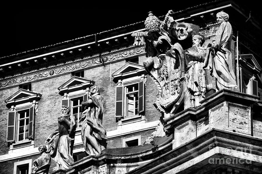 Vatican Photograph - St. Peters Watchers by John Rizzuto
