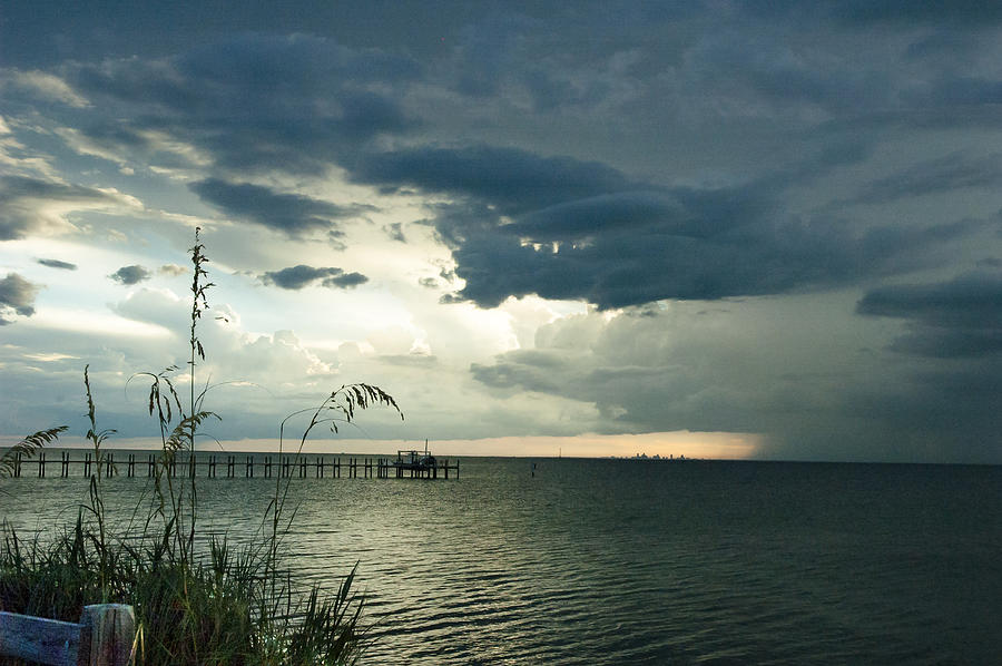 Seascape Photograph - St. Petersburg On The Horizon by Norman Johnson