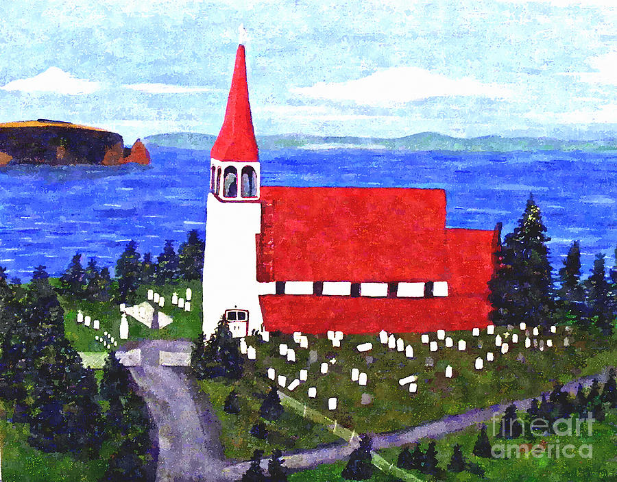 Church Painting - St. Philips Church by Barbara Griffin