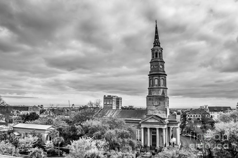 Church Photograph - St. Philips Church X Downtown Charleston by Philip Jr Photography