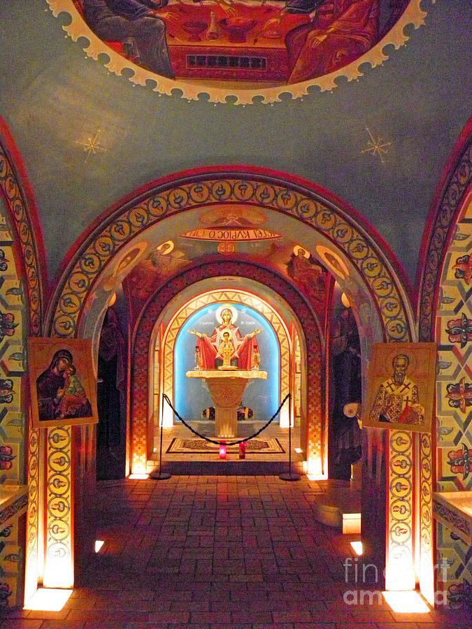 Saint Augustine Photograph - St Photios Greek Shrine by Elizabeth Hoskinson