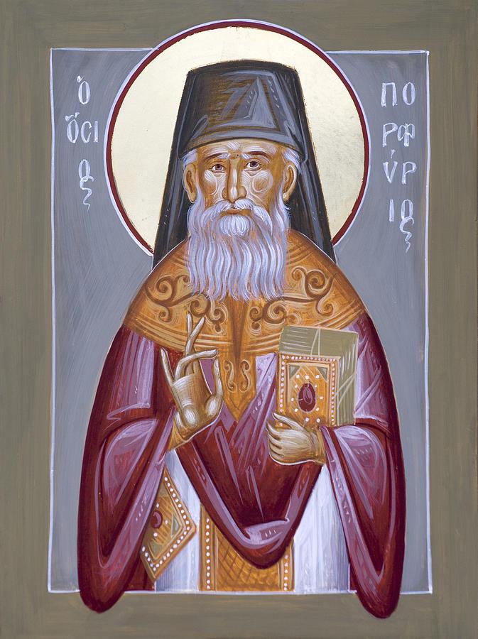 St Porphyrios Painting - St Porphyrios The Kavsokalyvitis by Julia Bridget Hayes