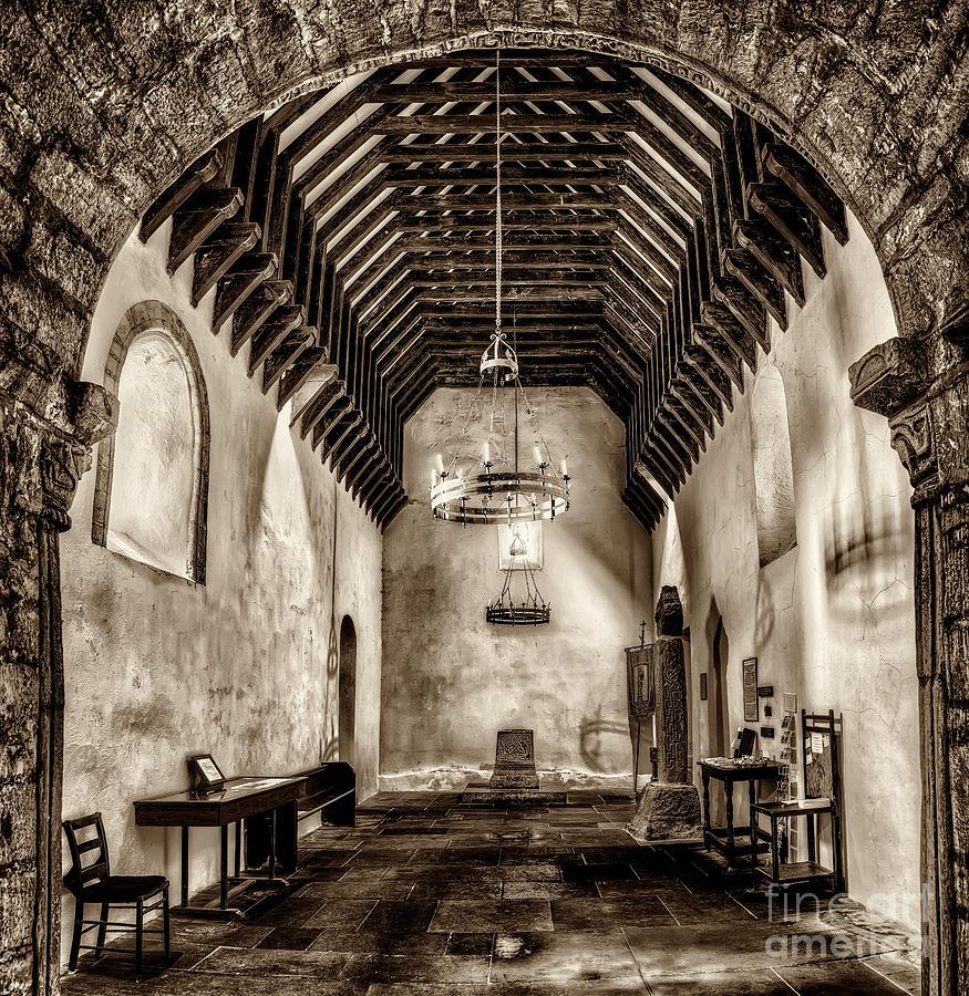 12th Century Photograph - St Seirio Church by Adrian Evans