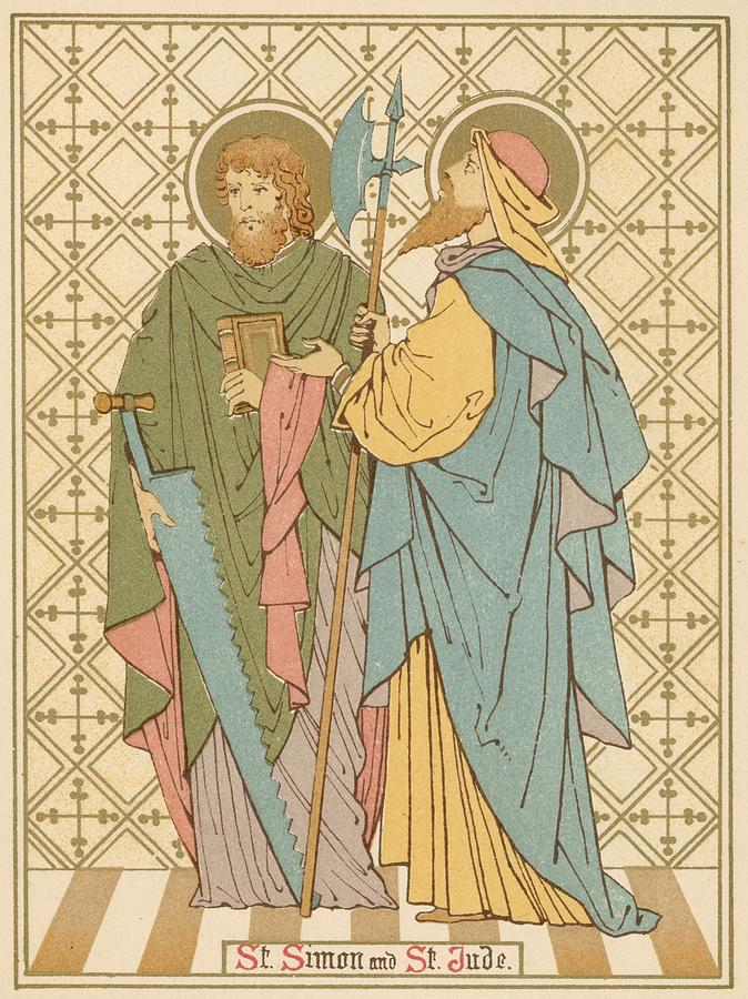 Saint Painting - St Simon And St Jude by English School
