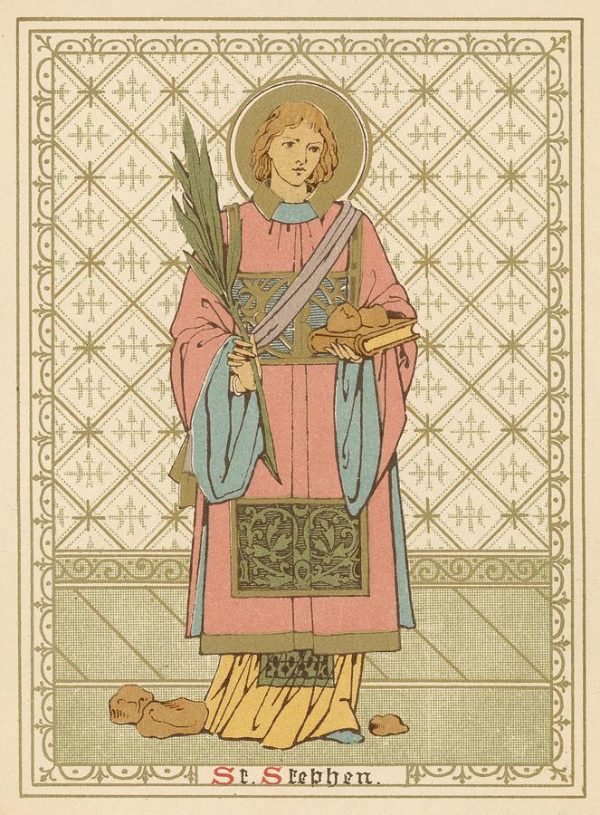 Saint Painting - St Stephen by English School