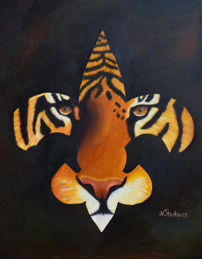 Nature Painting - St. Tiger by Nina Stephens