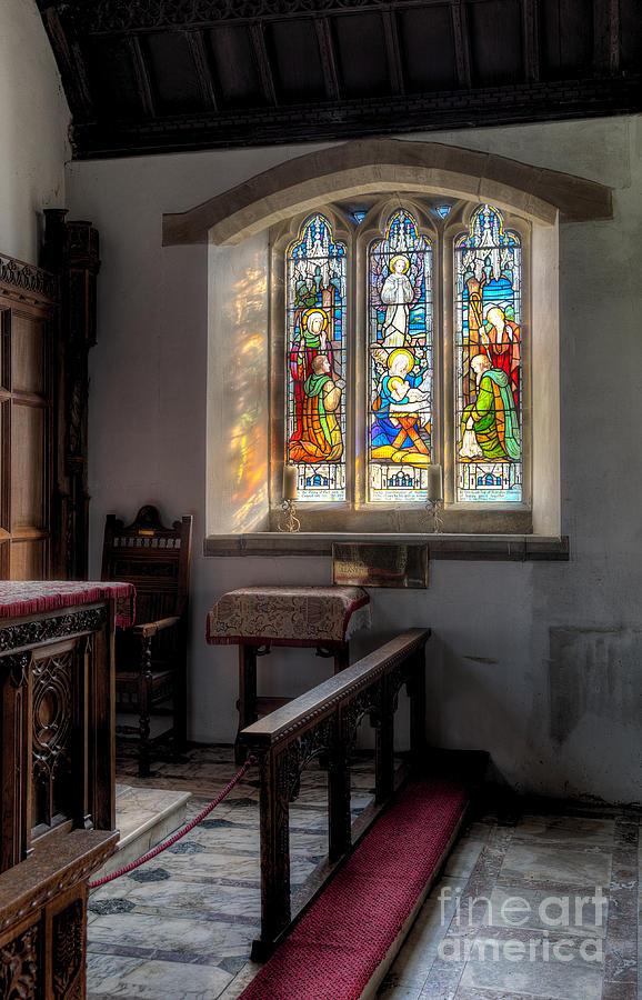 Arch Photograph - St Tysilio Window  by Adrian Evans