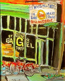 St. Viateur Bagel Painting - St. Viateur Bagel Shop by Michael Litvack