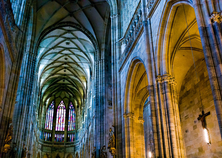 St Vitus Cathedral Photograph - St Vitus Cathedral by Dave Bowman