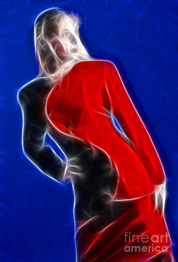 Fashion Photograph - Stacey Red And Black Fractal by Gary Gingrich Galleries