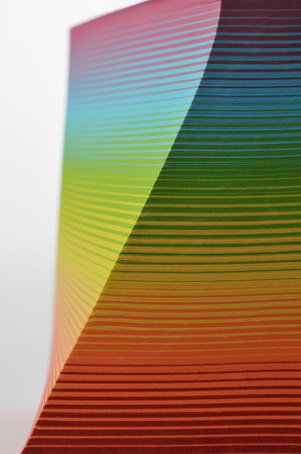 Stack Of  Colorful Paper Photograph by Yagi Studio