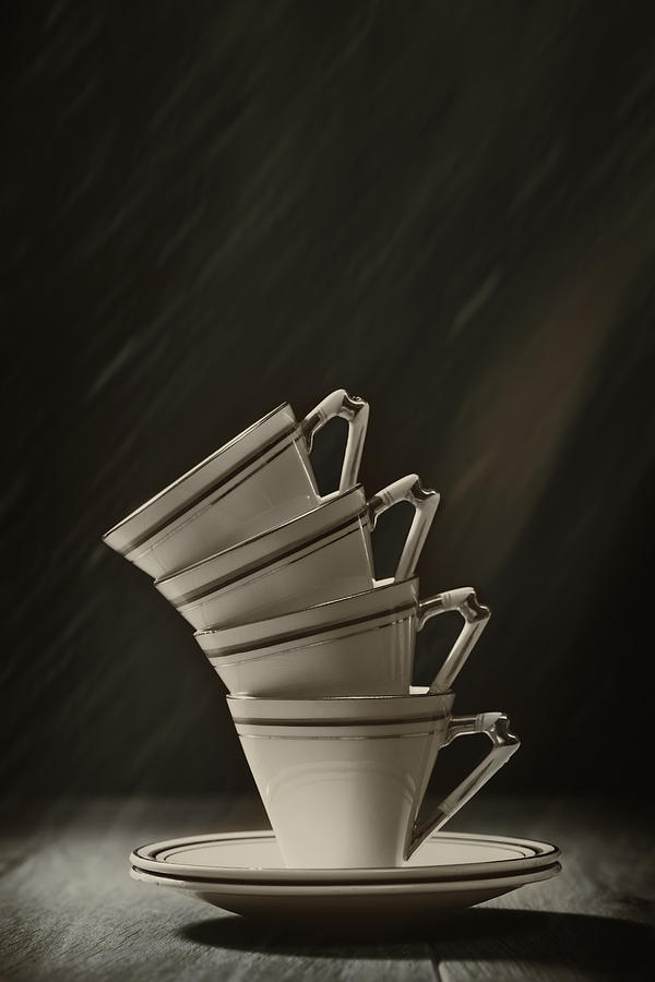 Stack Photograph - Stack Of Cups by Amanda Elwell