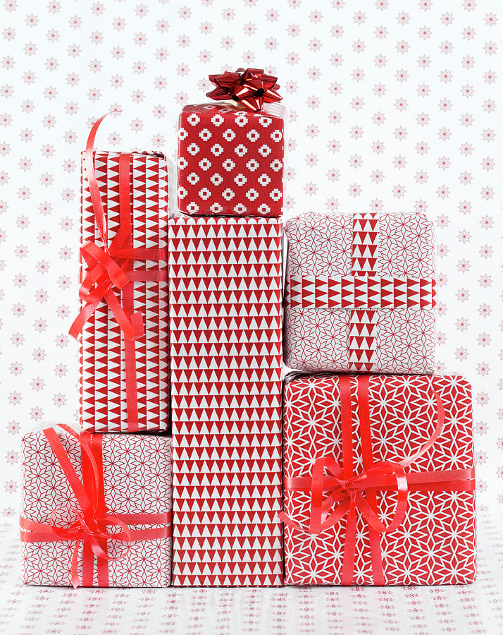 Stack Of Wapped Gifts Photograph by Muriel De Seze