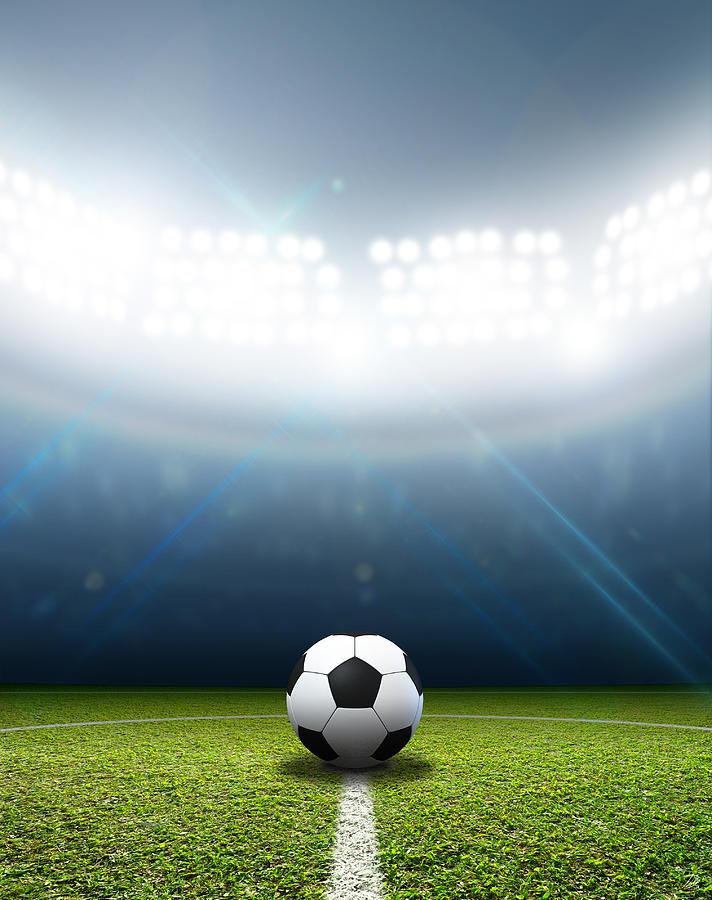 Stadium And Soccer Ball Digital Art