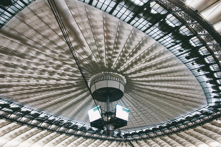 Ceiling Photograph - Stadium Ceiling by Pati Photography
