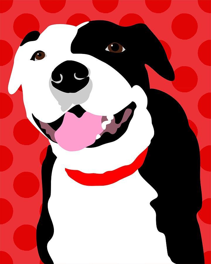 Staffordshire Bull Terrier Art Print Digital Art By Ginger Oliphant - Bull terrier art
