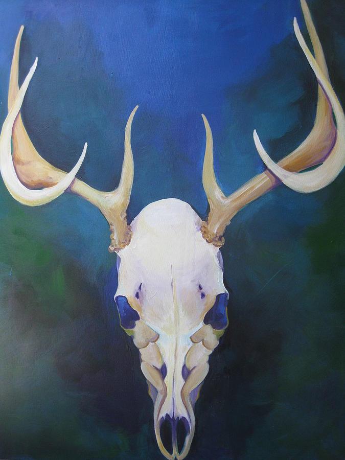 Deer Painting - Stag by Allison Kohn