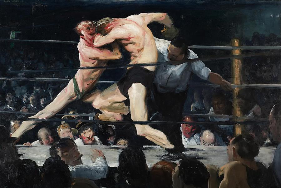 Boxing Painting - Stag At Sharkeys Bar 1909 by Mountain Dreams