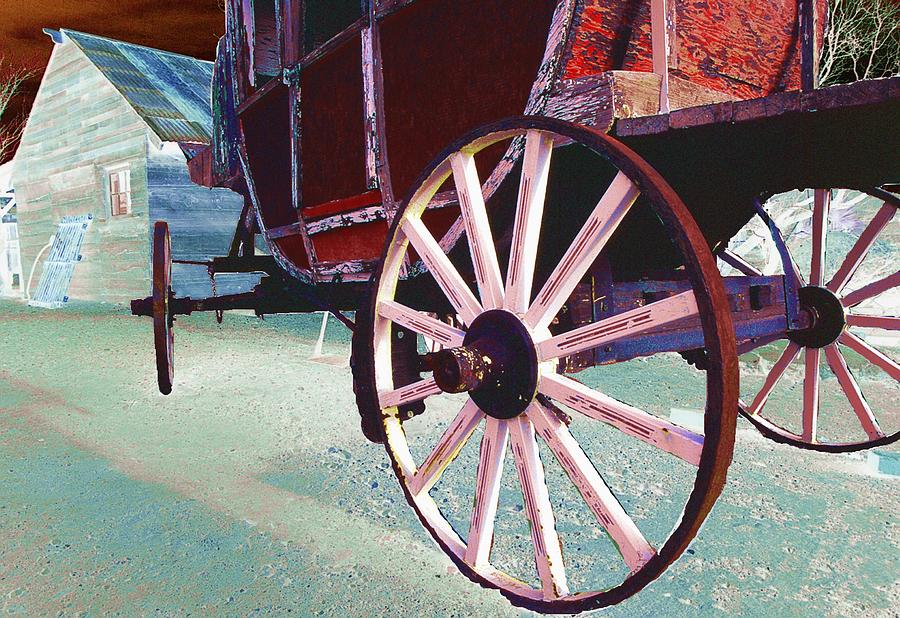 American West Digital Art - Stage Coach 1 by Kae Cheatham