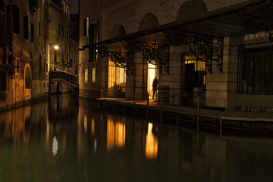 Venice Photograph - Stage Door by Marion Galt