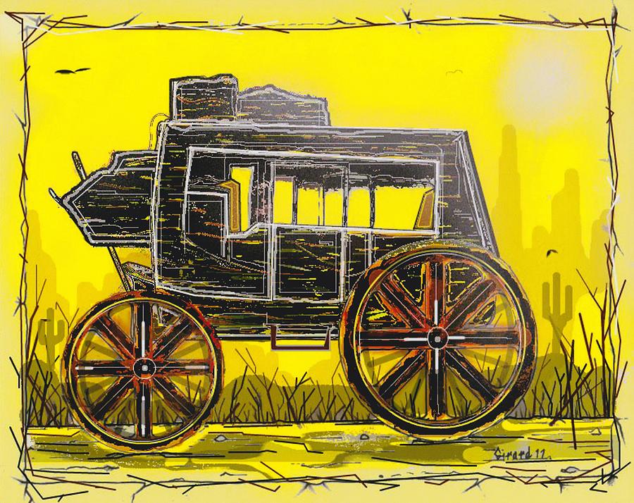 Stagecoach Mixed Media - Stagecoach by Jason Girard