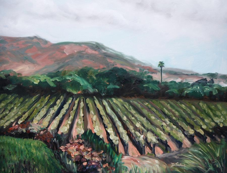 Vineyard Painting - Stags Leap Vineyard by Donna Tuten