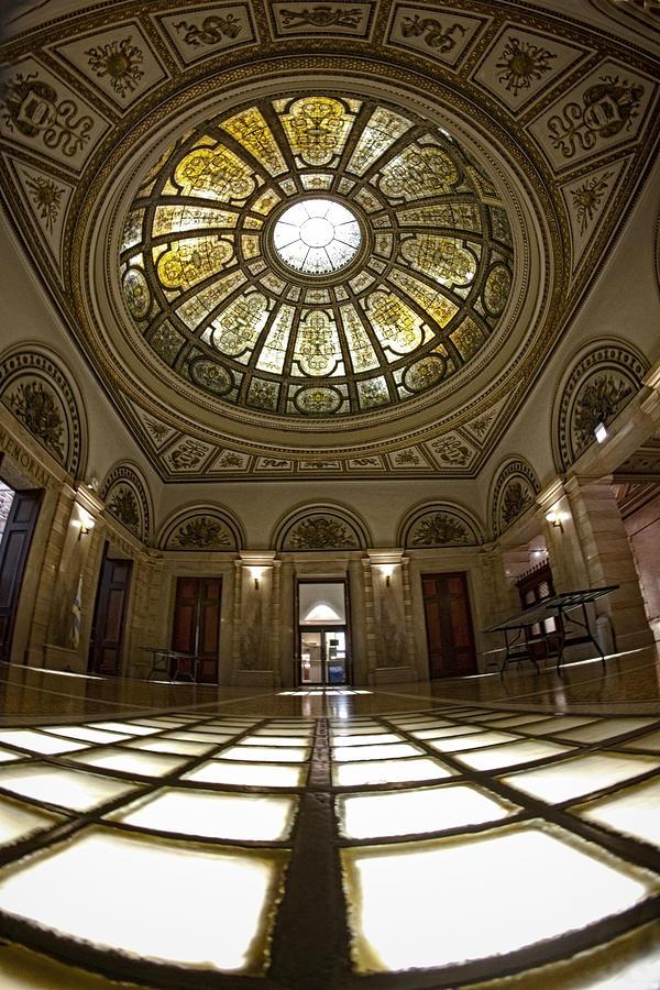 Chicago Photograph - Stain Glass Rotunda by Sven Brogren