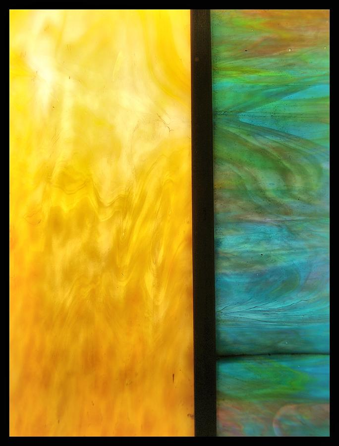 Abstract Photograph - Stained Glass 4 Border by Tom Druin