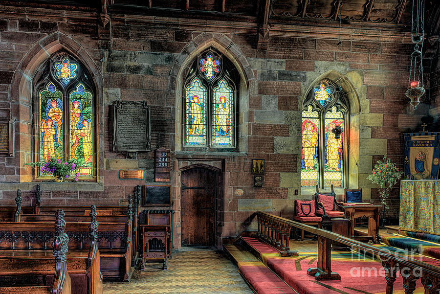 Aisle Photograph - Stained Glass by Adrian Evans