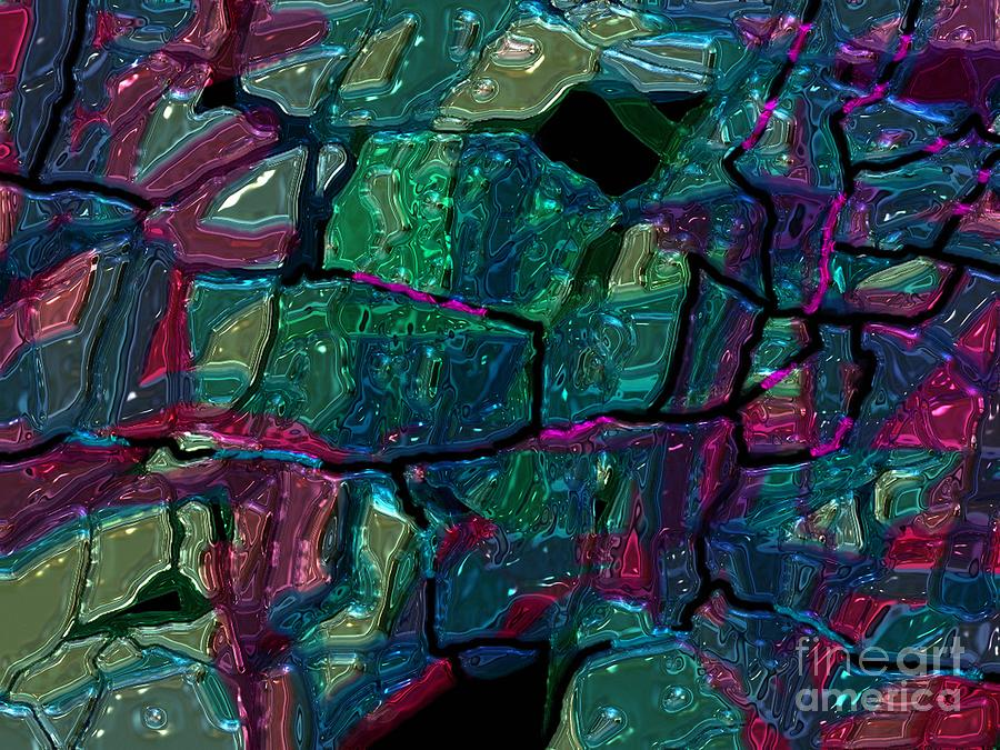 Abstract Digital Art - Stained Glass by Igor Schortz