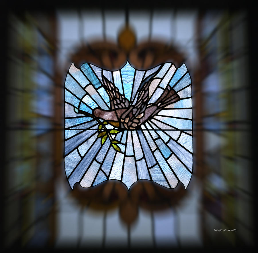 Stained Glass Photograph - Stained Glass Lc 13 by Thomas Woolworth