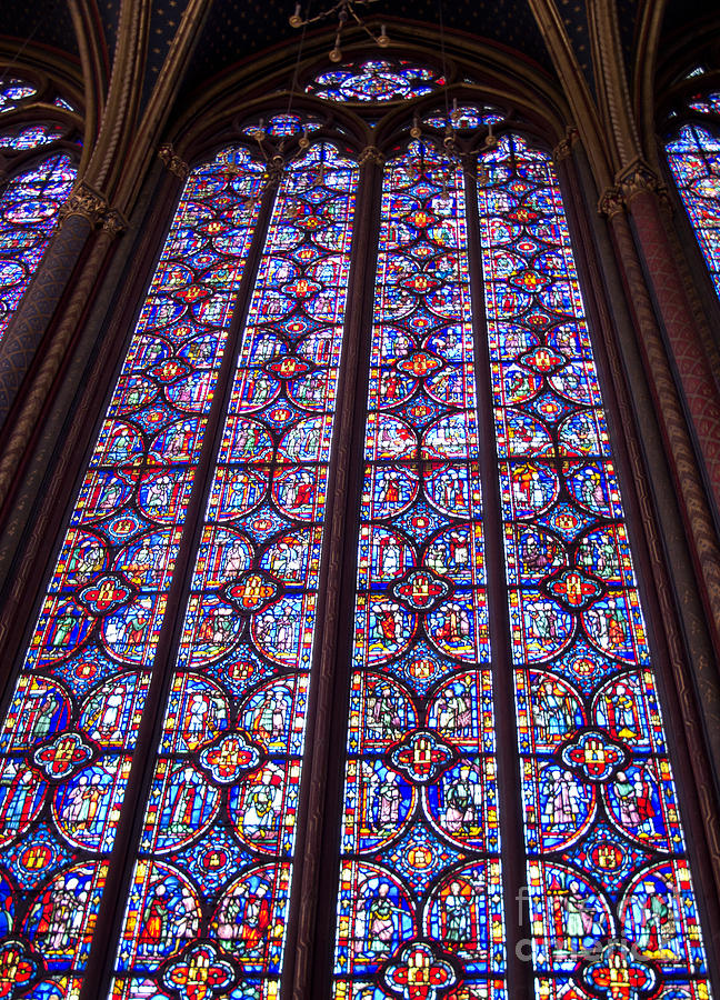 Paris Photograph - Stained Glass Magnificence by Ann Horn