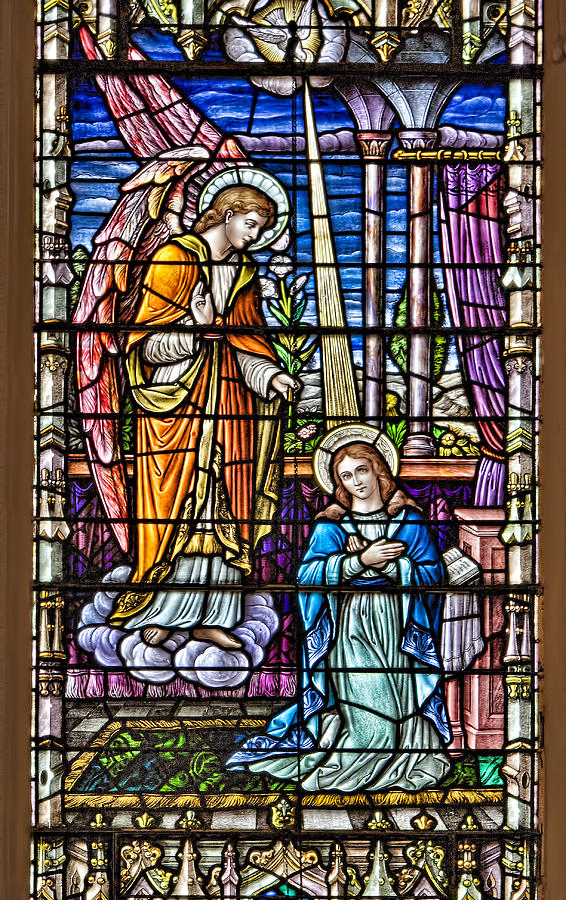 Catholic Photograph - Stained Glass by Susan Candelario