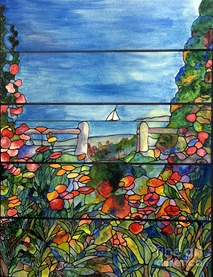 Art With Stained Glass Paint On Paper
