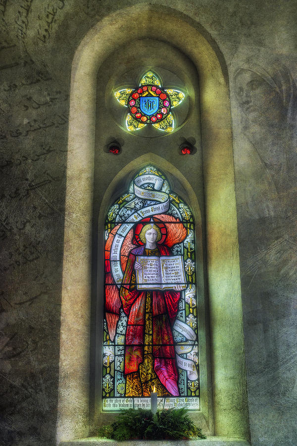 Stained Glass Window Photograph - Stained Glass Window Art by Ian Mitchell