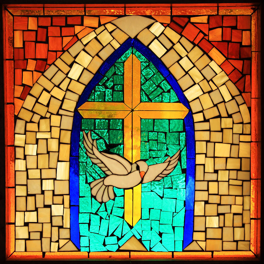 Stained glass window at santuario de chimayo photograph by for Art glass windows