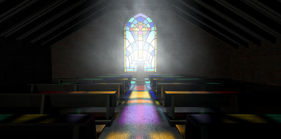 Window Digital Art - Stained Glass Window Church by Allan Swart