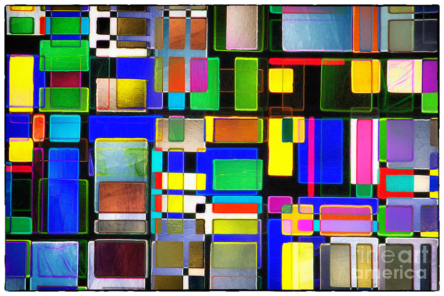 Abstracts Photograph - Stained Glass Window II Multi-coloured Abstract by Natalie Kinnear