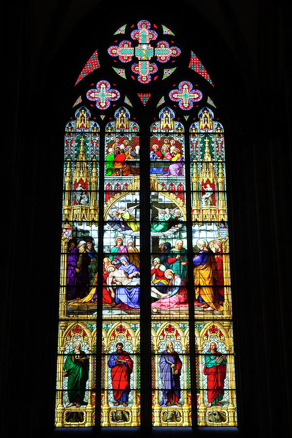 Stained Glass Window In Cologne Photograph by Julian Elliott Photography