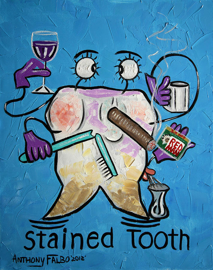 Collectable Painting - Stained Tooth by Anthony Falbo