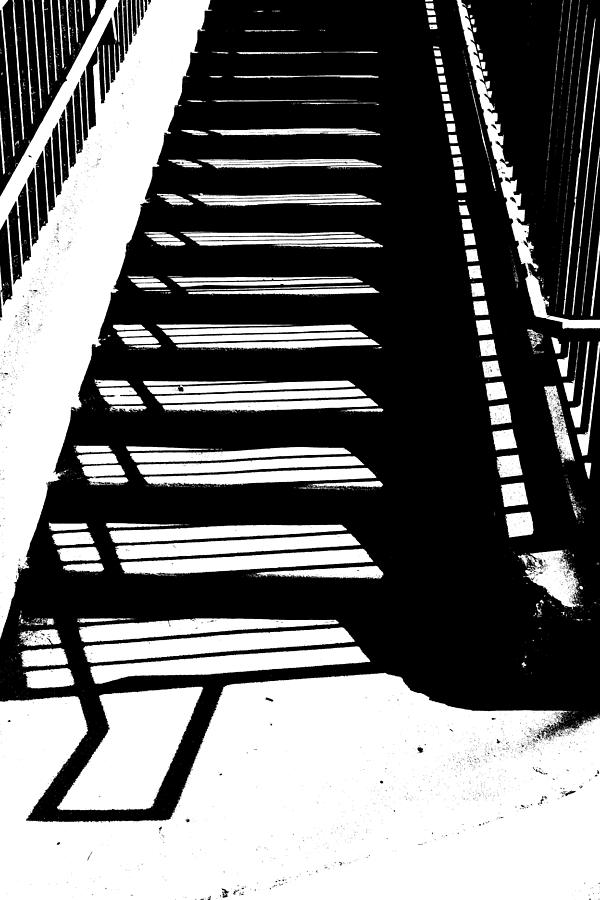 Hand Rail Photograph - Stair Shadow by Christopher McKenzie