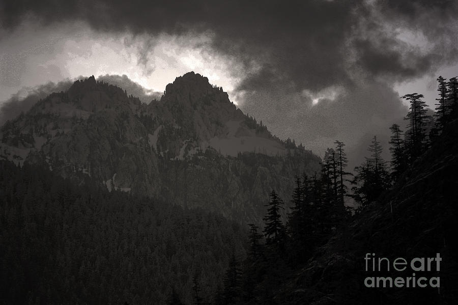 Mountains Washington Photograph - Staircase  by C E Dyer