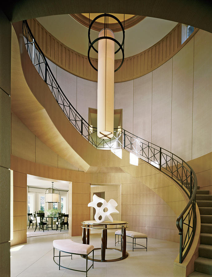 Staircase In Luxurious House Photograph by Durston Saylor