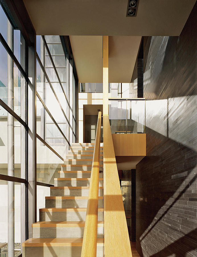 Staircase In Office Block Photograph by Erhard Pfeiffer