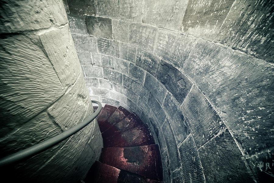 Staircase Inside A Castle Photograph by Leopatrizi
