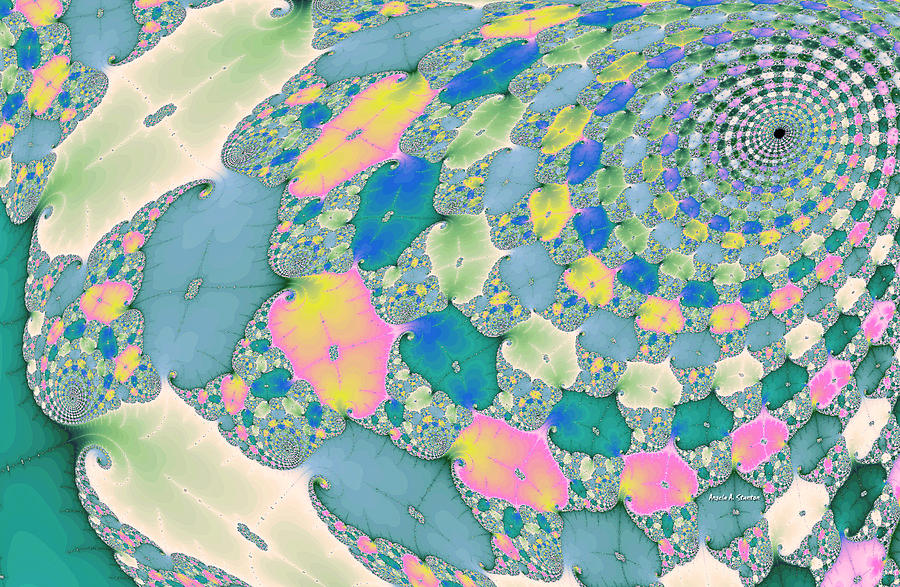 Mandelbrot Painting - Staircase To Heaven by Angela A Stanton