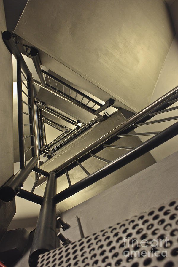 Metal Photograph - Stairing Up The Spinnaker Tower by Terri Waters