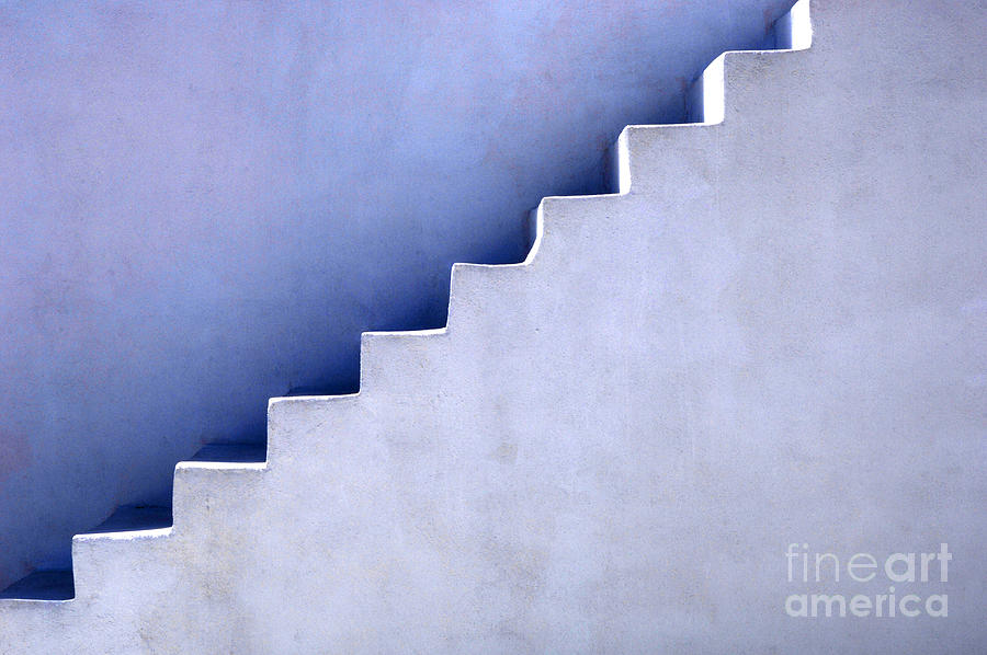 Stair Photograph - Stairs In Santorini by Bob Christopher