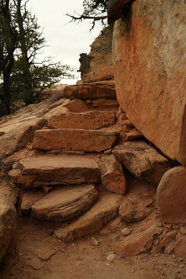 Stones Photograph - Stairs In The Desert by Jeff Swan