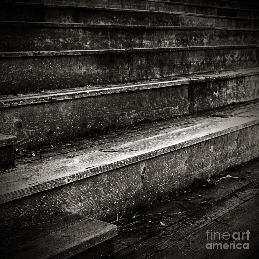 Old Photograph - Stairs Infinity by Charmian Vistaunet